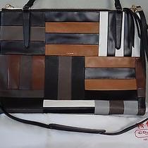 Coach Borough Patchwork Large Black Brown Leather Tote Purse 30373 895 Rare Photo