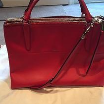Coach Borough Satchel in Red Photo