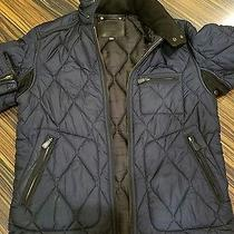 Coach Bowery Quilted Racer Black Men's Jacket Size S 448 Photo
