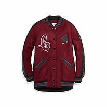 Coach Boyfriend Varsity Women's Jacket F24192 Crimson Size Xs Retail 795 New  Photo