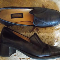 Coach Brand Black Leather Pump Shoes 8.5 M Loafer Styling Round Toe  Photo