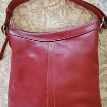 Coach Brick Red Vintage Duffle/hobo Bag Photo