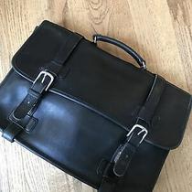 Coach Briefcase Business Portfolio Laptop Bag Black Leather Carry Case 5325 Photo