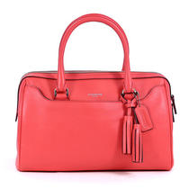 Coach Bright Coral Legacy Leather Haley Satchel Purse Handbag New Photo