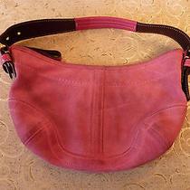 Coach Bright Pink Suede Handbag Photo