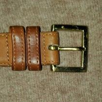 Coach British Tan Real Sz 38/95cm Glove Tanned Leather Belt  Photo