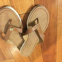 Coach British Tan Thong Sandals Size 8 Leather Photo