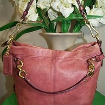 Coach Brooke Pink Leather Hobo Shoulder Bag 14195 Photo