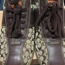 Coach Brown Bowling Style Women's Sneakers Size 8 Photo
