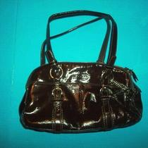Coach Brown Crinkle Patent Leather Satchel 12688 Bag Purse Photo