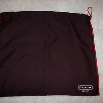 Coach Brown Dust Cover  W/ Drawstring Purse Storage Bag/dust Bag Nice Photo