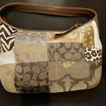 Coach Brown Gold Signature Purse Ergo Patchwork Gallery Hobo Bag Photo