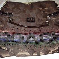Coach Brown Handbag the Suede Collection  Photo
