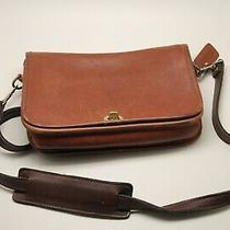 Coach Brown Leather 9812 Ridgefield Flap Shoulder Bag Purse. Nice Condition. Photo