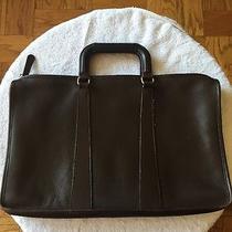 Coach Brown Leather Attache Briefcase Portfolio Laptop Bag Vintage  Photo
