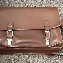 Coach Brown Leather Attache Laptop Bag Photo