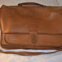 Coach Brown Leather Briefcase Attache Metropolitan 8934 Vintage Made in Usa Photo