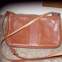 Coach Brown Leather Crossbody Handbag With Hang Tag Photo