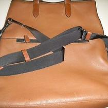 Coach Brown Leather Extra Large Tote Carry on Shoulder Bag Retired Authentic Htf Photo