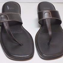 Coach Brown Leather Sandals Size 6 1/2 Daney Photo