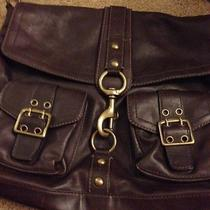 Coach Brown Leather Satchel Rare Photo