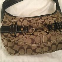 Coach  Brown Leather Signature Belted Hobo Handbag Purse 11274 Photo