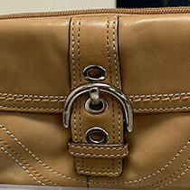 Coach Brown Leather Small Buckle Wristlet Clutch Photo