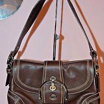 Coach Brown Leather Soho Medium Demi Handbag Purse Bag Silver Hardware Euc Nr Photo