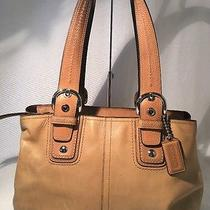 Coach Brown Leather Tote Bag Photo