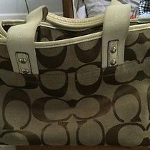 Coach Brown/light Brown Tote Shoulder Bag Photo