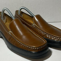 Coach Brown Loafers Size 10 Alaura P066 Slip on Dress Shoes Made in Italy  Photo