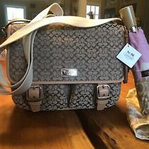 Coach Brown Logo Small Messenger Bag & Coach Umbrella- New W/ Tags - Great Gift Photo