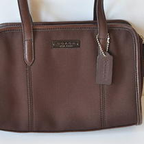 Coach Brown Material Small Shoulder Purse Bag F8i - 6214 Photo