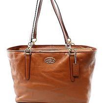 Coach Brown Saddle Pebble Leather Zip Top Ellis Hand-Bag Tote Purse 298-052 Photo