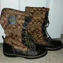 Coach Brown Shaine Boots Size 7 Photo