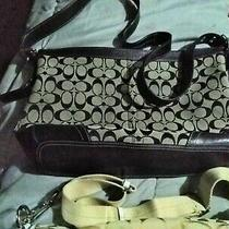 Coach Brown Signature Handbag  Photo