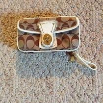 Coach Brown Signature Jewelry Bag Style 60267 Photo