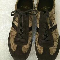 Coach Brown Signature Sneakers.  Size 38.5 Photo
