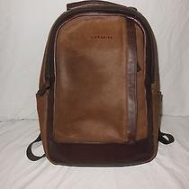 Coach Brown Suede and Leather Backpack Photo