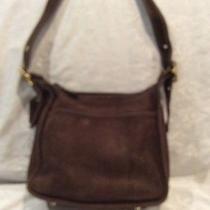 Coach Brown Suede Vintage Handbag Photo