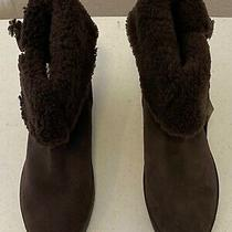 Coach Brown Wedge Suede Bootie  Size 9.5m Photo