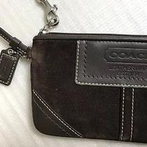 Coach Brown Wristlet Leatherware Est. 1941 Leather Suede Purse Wallet Photo