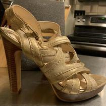 Coach Brynne Size 10 High Heel Sandals Gold Metallic Photo