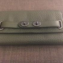 Coach Bubble Olive Green Leather Blake Wallet  Photo