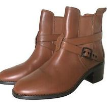 Coach - Buckle Chelsea Brown Bootie - Size 10 B - Saddle Leather - Block Heels Photo