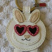 Coach Bunny Rabbit W/heart Sunglasses Mink Tail Keychain Key Ring Charm Fob Photo
