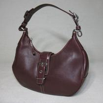 Coach Burgundy Auburn Leather Hobo Bag Purse Shoulderbag Photo