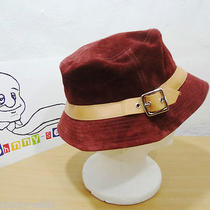 Coach Burgundy Suede Bucket Crusher Hat P/s Photo