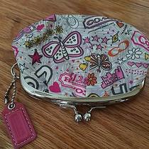 Coach Butterfly Heart Graffiti Coin Change Purse Photo