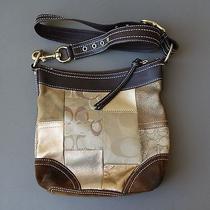 Coach C-Patchwork Brown/gold Shoulder Tote Bag F10387c704 Photo